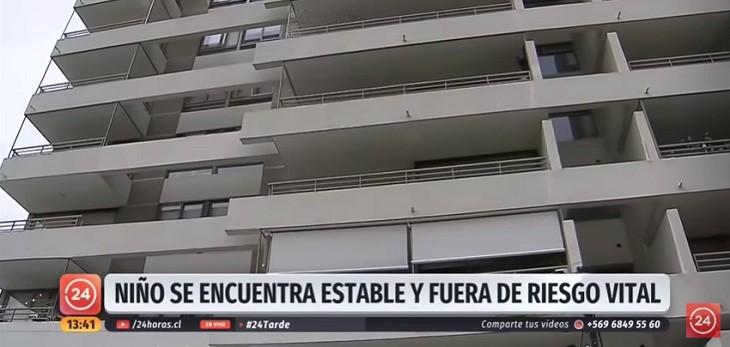 niño cayo quinto piso malla de seguridad