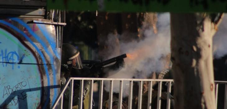carabineros lacrimogenas