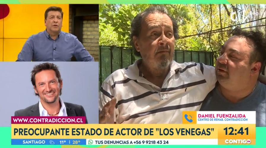 Daniel Fuenzalida y su gesto con actor Alberto Zará tras conocerse su complejo estado de salud
