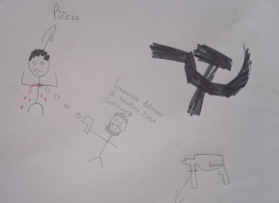Dibujos de diputado Hugo Gutiérrez