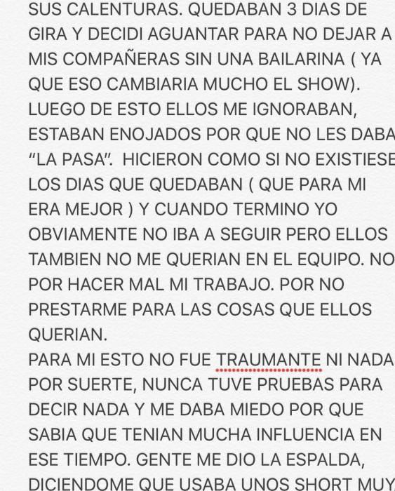 "Bailarina Gabriela Pavez denunció que fue acosada sexualmente por DJ Méndez: ""Lloré de impotencia"""