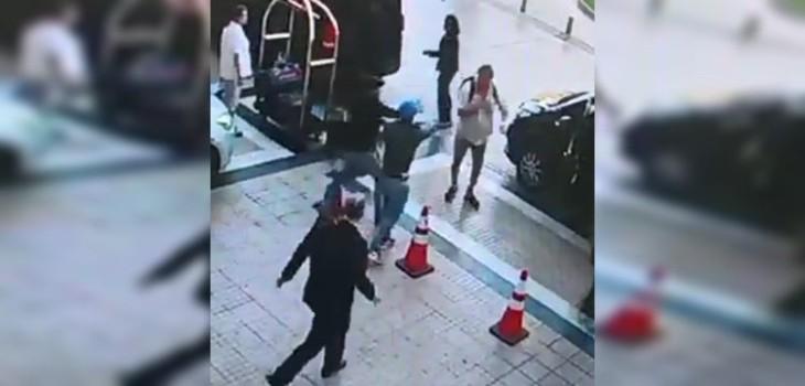 turistas asaltados en hotel de Las Condes