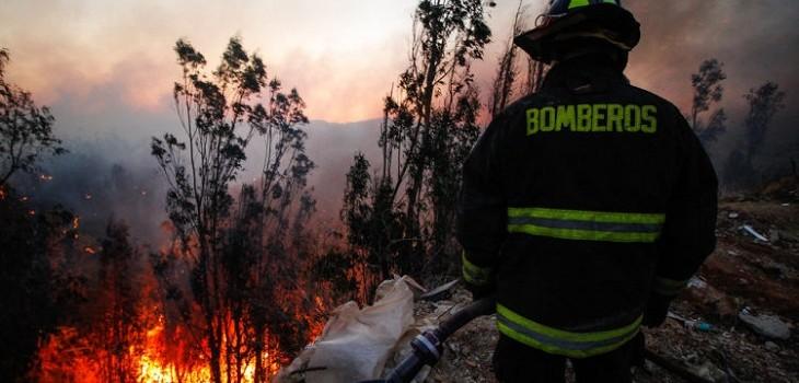 incendio cerro rocuant y san roque en valparaiso