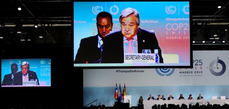 Jefe de la ONU decepcionado por COP25
