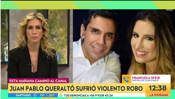 Juan Pablo Queraltó fue asaltado camino a 'Contigo en la Mañana'