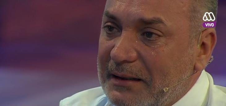 Luis Jara llorando en Mucho Gusto