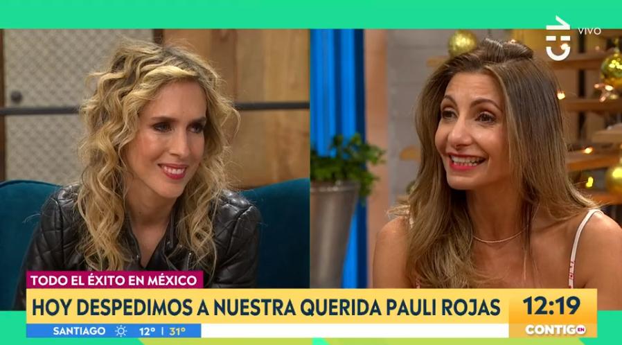 """Ante su partida a México: así fue el último día de Paulina Rojas en """"Contigo en La Mañana"""""""