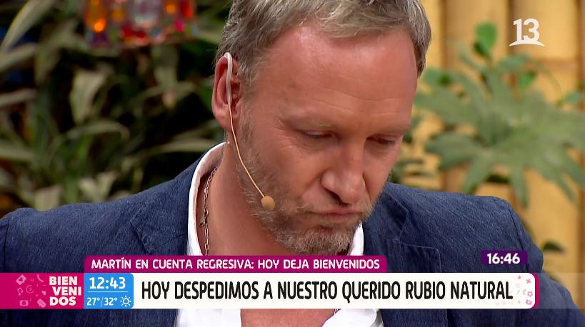 Martín emocionado