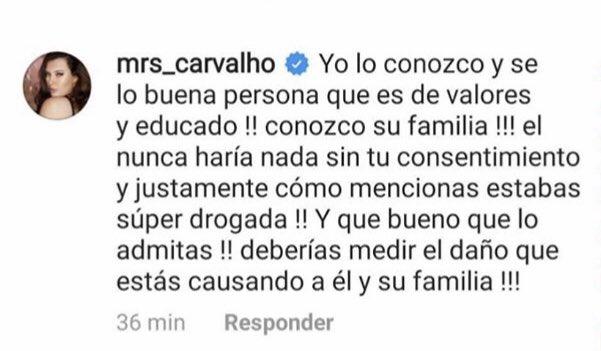 mensaje michelle carvalho