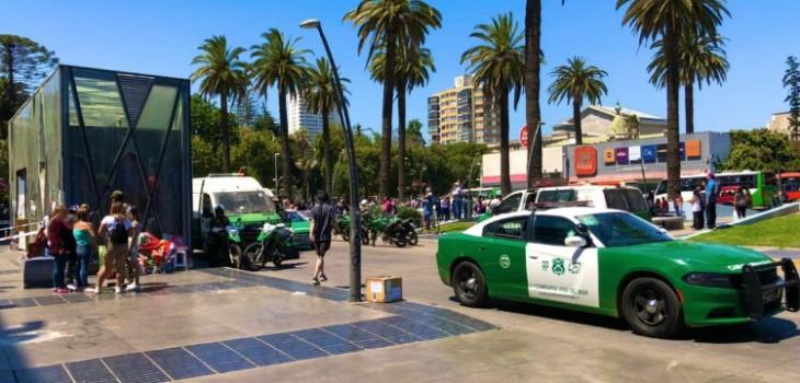 Un muerto deja balacera en la plaza Sucre en Viña del Mar