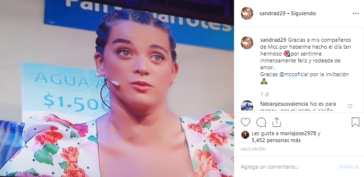 Sandra Donoso volvió a MCC