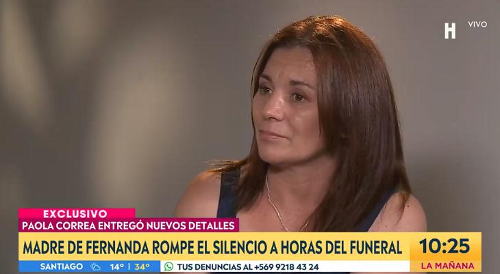 Madre de Fernanda Maciel a horas de su funeral