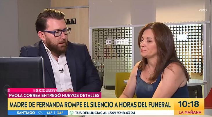 Mamá de Fernanda Maciel a horas de su funeral