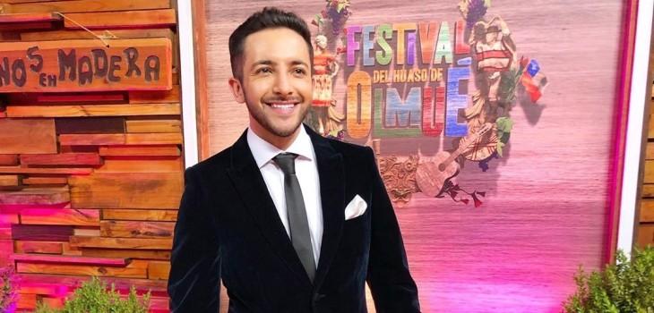 Hugo Valencia en backstage de Festival de Olmué
