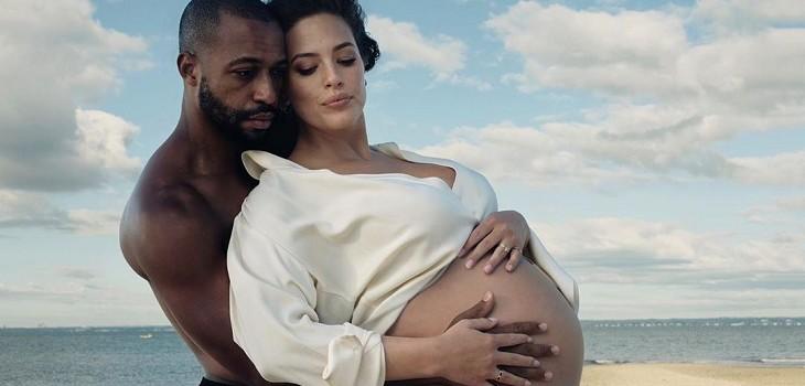 ashley graham maternidad