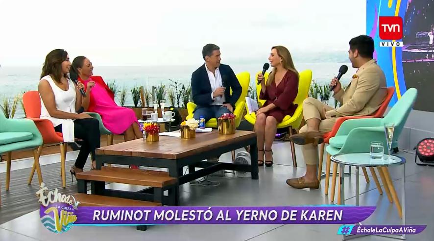 Karen Doggenweiler relató la divertida situación que vivió su yerno en la rutina de Pedro Ruminot