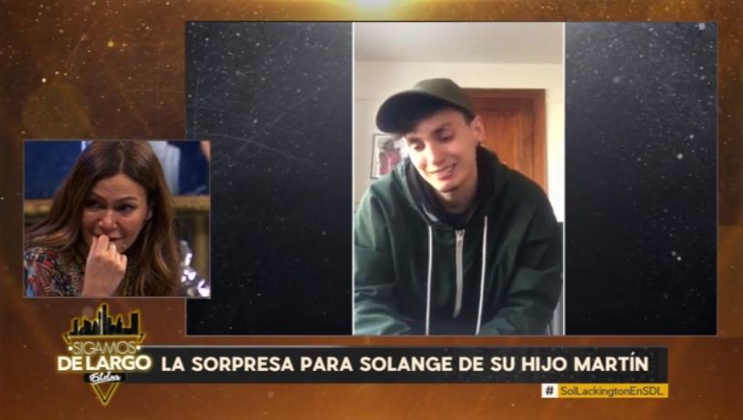 Solange Lackington se quebró en 'Sigamos de largo' con mensaje de su hijo: está becado en EEUU