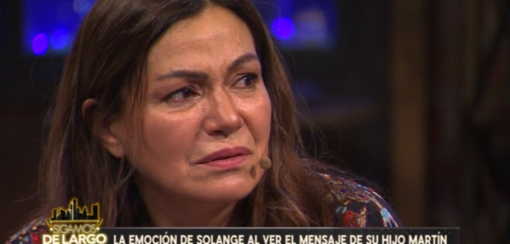 Solange Lackington llorando en Sigamos de largo