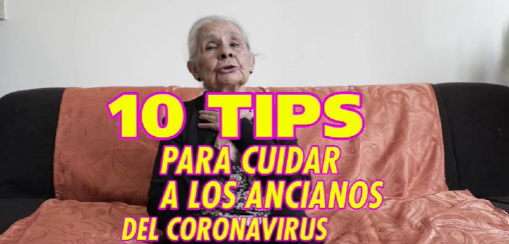 Anciana da consejos para cuidar a los ancianos ante pandemia de covid-19