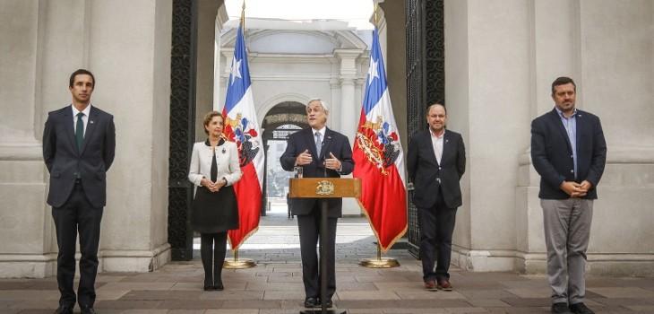 Presidente Piñera anuncia acuerdos para cubrir servicios de luz, agua y telecomunicaciones