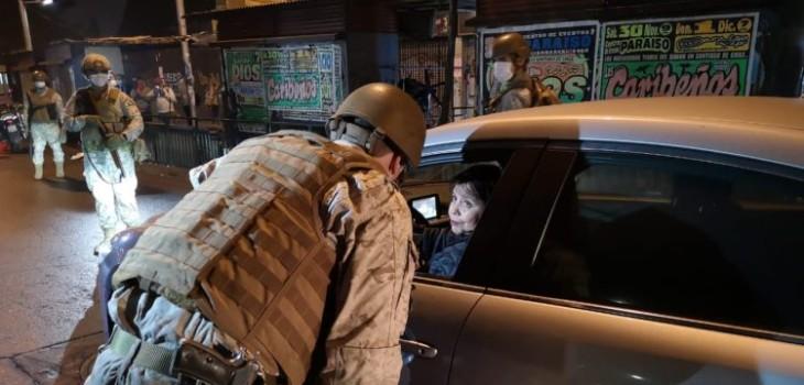 Fiscalización militares durante cuarentena y toque de queda