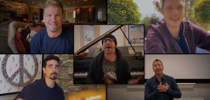 Backstreet Boys graba 'I want it that way' desde sus casas por la cuarentena