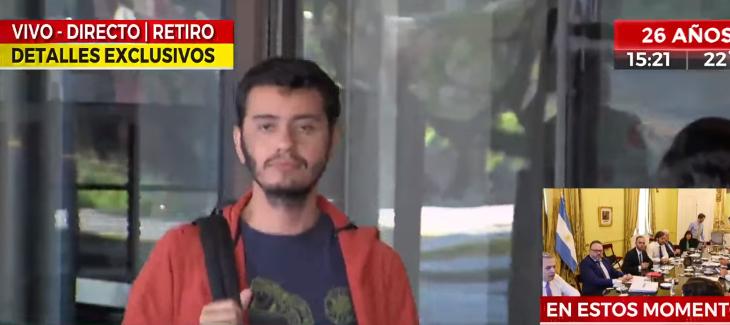 Chileno fue detenido en Argentina tras toser en la cara de periodista