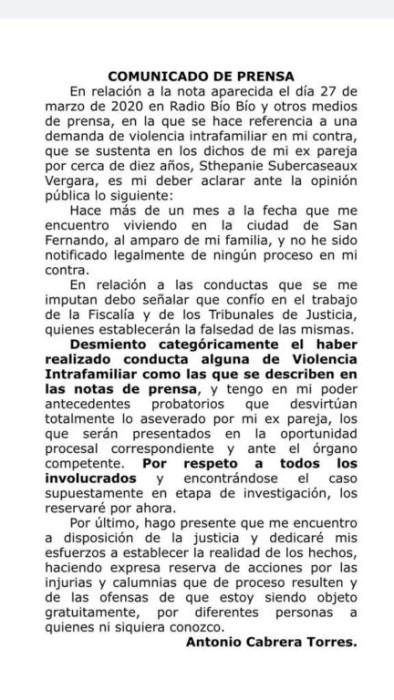 Ciclista Antonio Cabrera 'desmiente categóricamente' demanda de expareja por violencia intrafamilar