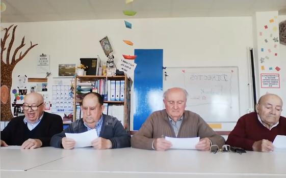 Abuelitos de residencia en Segovia