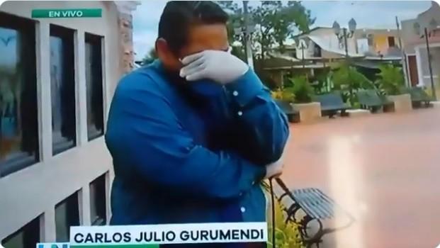 [Video] Periodista rompió en llanto al informar en vivo sobre el coronavirus
