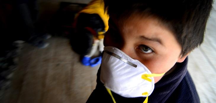 Niño con mascarilla, coronavirus, covid-19