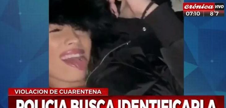 Argentina violó cuarentena para ver a su novio