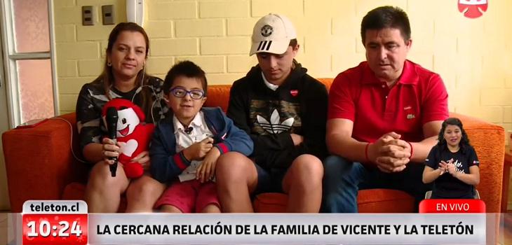 Vicente Jopia y su familia