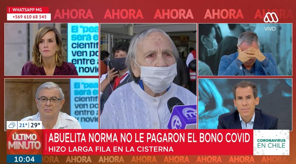 Indignación en redes por señora de 90 años que no podía cobrar su pensión
