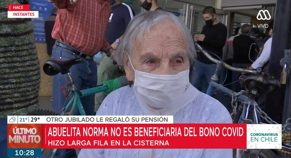 Conmovedor gesto con mujer de 90 años que no pudo cobrar bono COVID emocionó a panel del Mucho Gusto