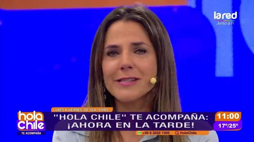 Julia Vial se emocionó en Hola Chile