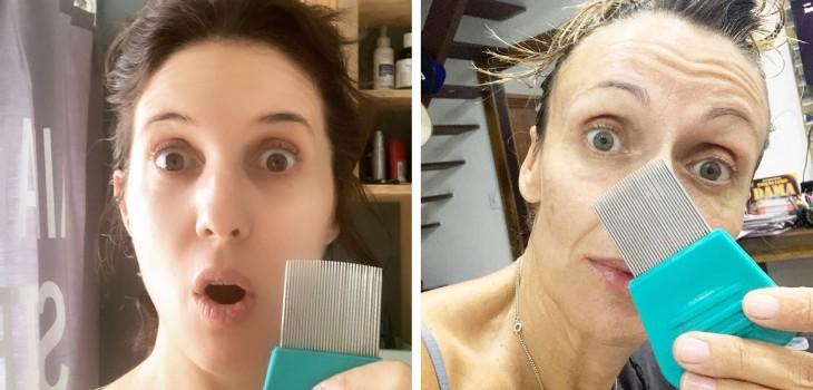 Luz Valdivieso y Katyna Huberman tienen piojos
