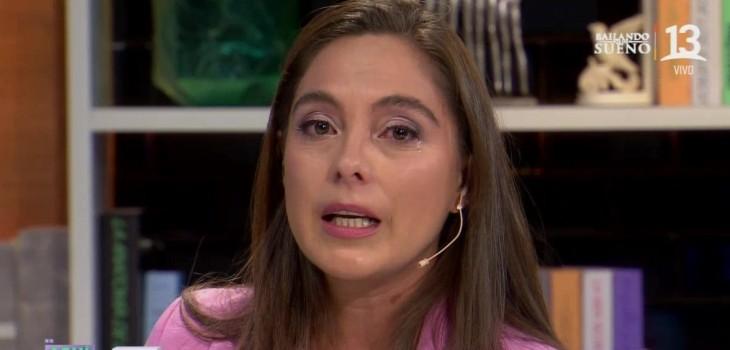 Ángeles Araya lloró por crudo caso en Aquí Somos todos