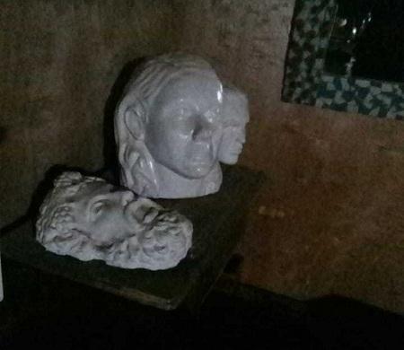 Esculturas hechas por el 'Leche'
