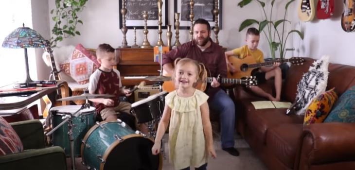 talentosa familia de EE.UU. armó una banda que la rompe en redes