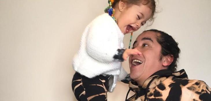 Fernando Godoy y su hija Lua