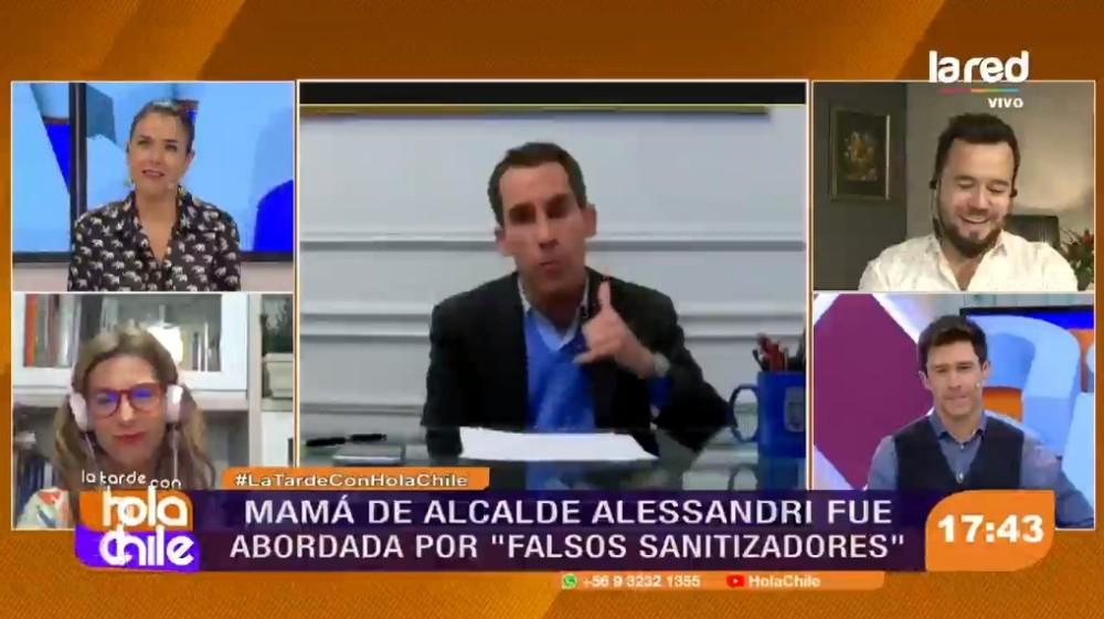 Alcalde Alessandri falsos sanitizadores