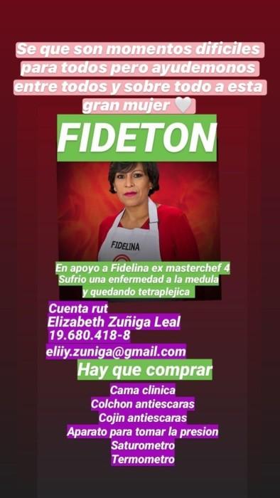 Ayuda para Fidelina Leal