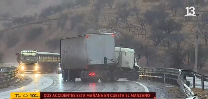 colisión camiones en ruta 5 norte