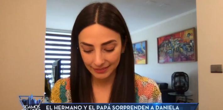 Daniela Castillo emocionada en Sigamos de largo