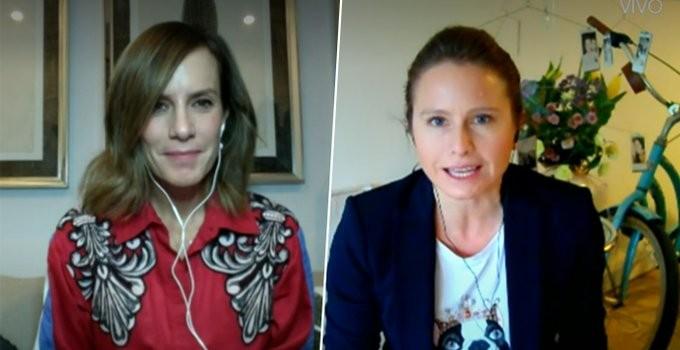 Diana Bolocco y Sole Onetto trabajan desde casa