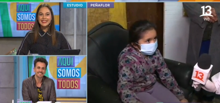 Sergio Lagos tuvo bello gesto con niña que vivía junto a un basural