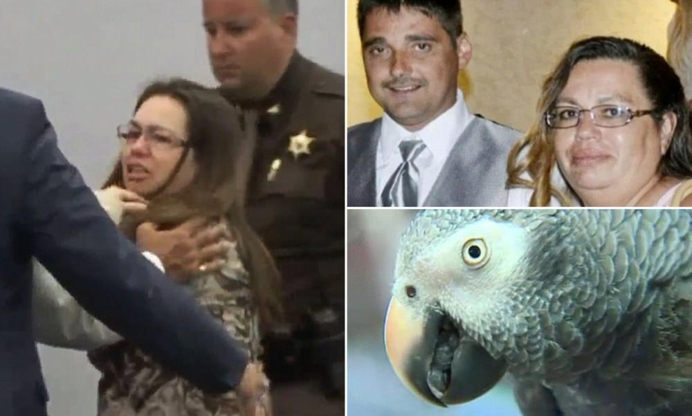 el caso de la mujer que asesinó a su marido y que fue delatada por su loro