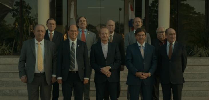la larga lista de actores chilenos que aparece en El Presidente