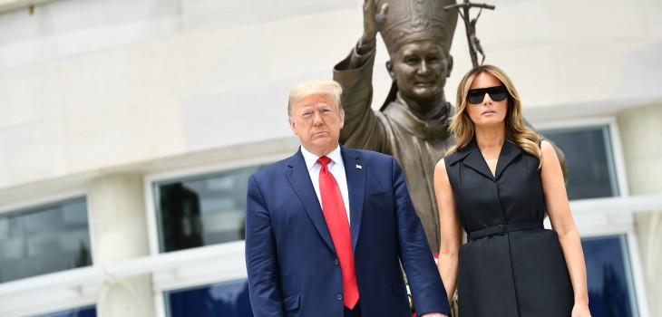 Mueca de Melania Trump